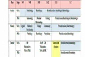 اعلان عن جدول المحاضرات الأسبوعي للكورس الاول للعام الدراسي 2021_ 2022 (الدراسات العليا)